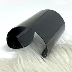 Michael Kors Wrapped Metal Black Charcoal Cuff